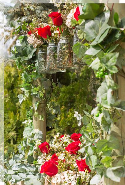Rosas rojas decoración