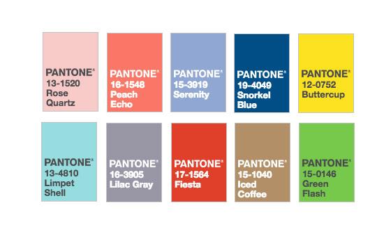 Los 10 colores de moda para la primavera Pantone