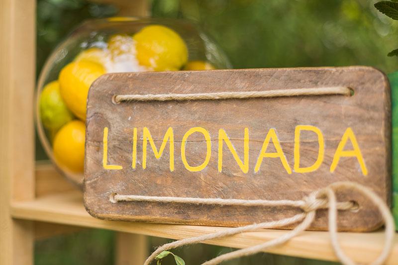 tu decoración original rincón de limonada cartel
