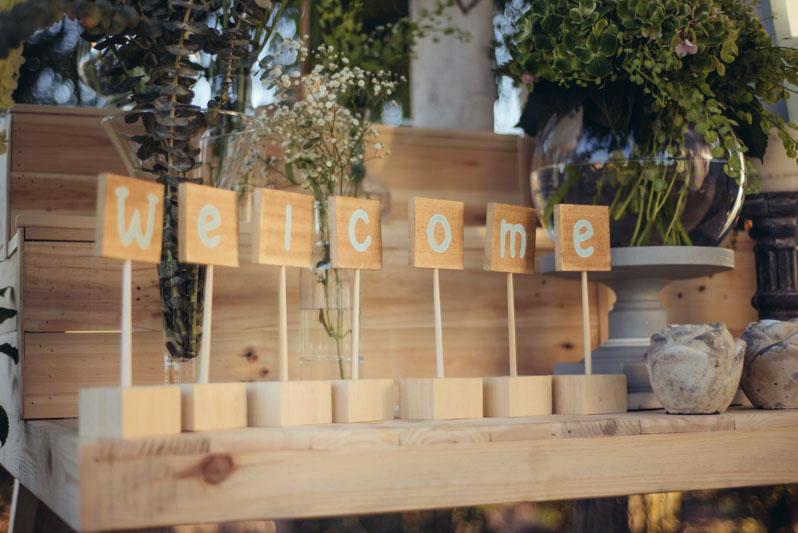 Tu decoración Original welcome corner letras