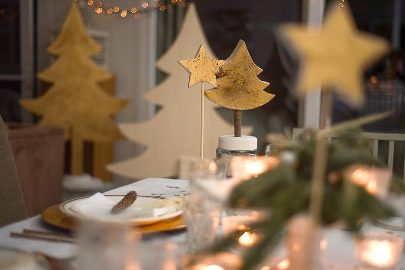 adornos de navidad de madera