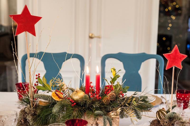 adornos para mesas en navidad