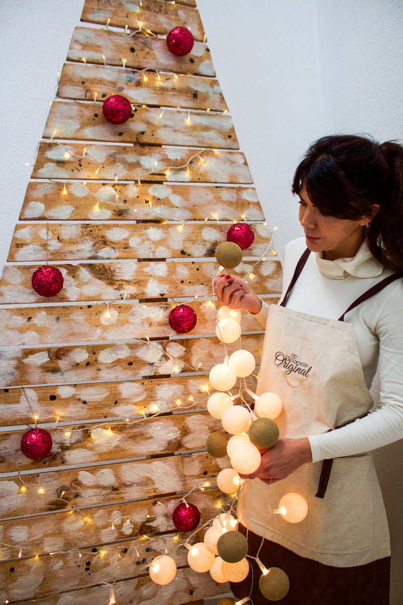 arbol de navidad de madera