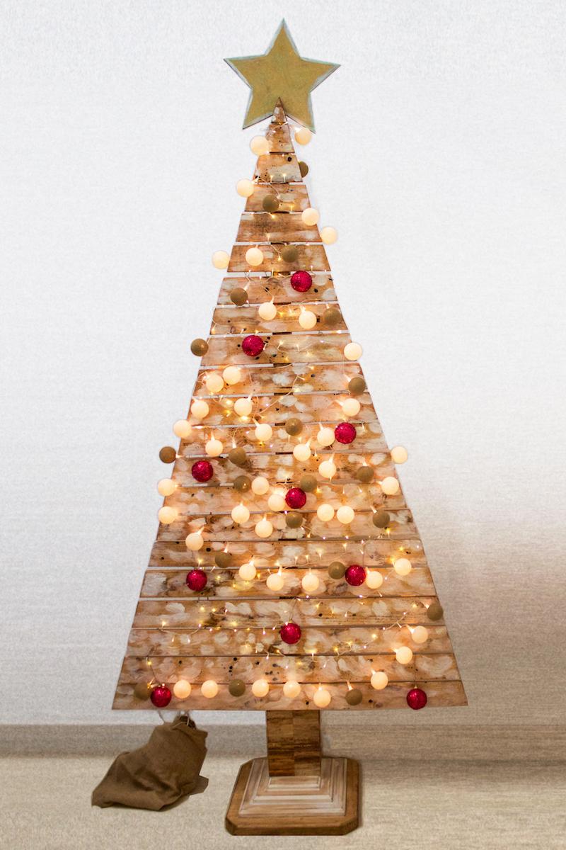 árbol de navidad de palet