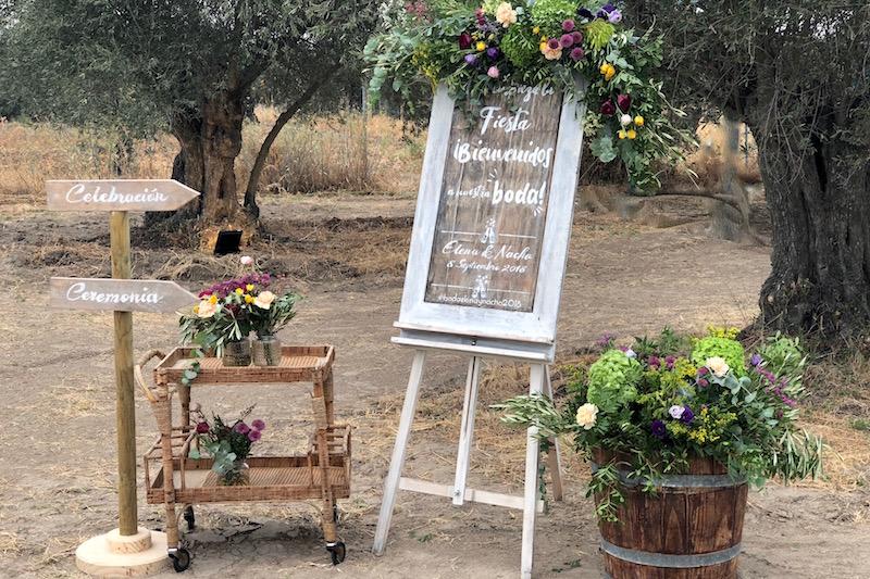 Bienvenida boda rústica