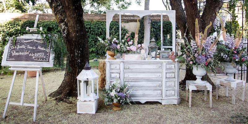 boda vintage con decoración