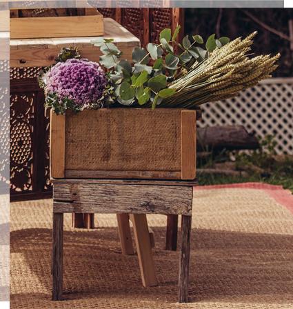 Caja de flores para bodegones de bienvenida