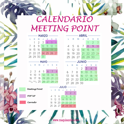 Calendario Meeting Point Bodas