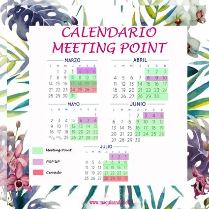 Calendario Meeting Point Bodas