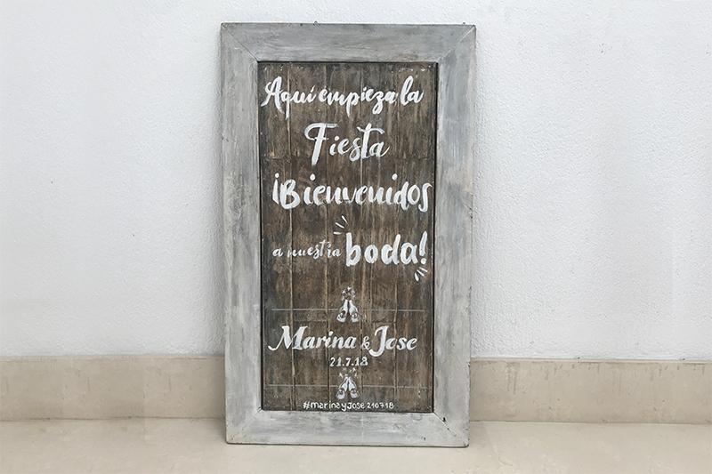 cartel bienvenida