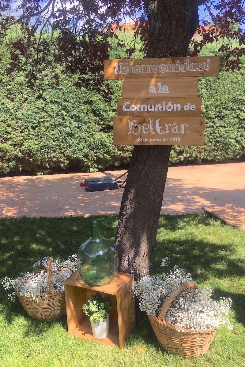 cartel bienvenida comunión