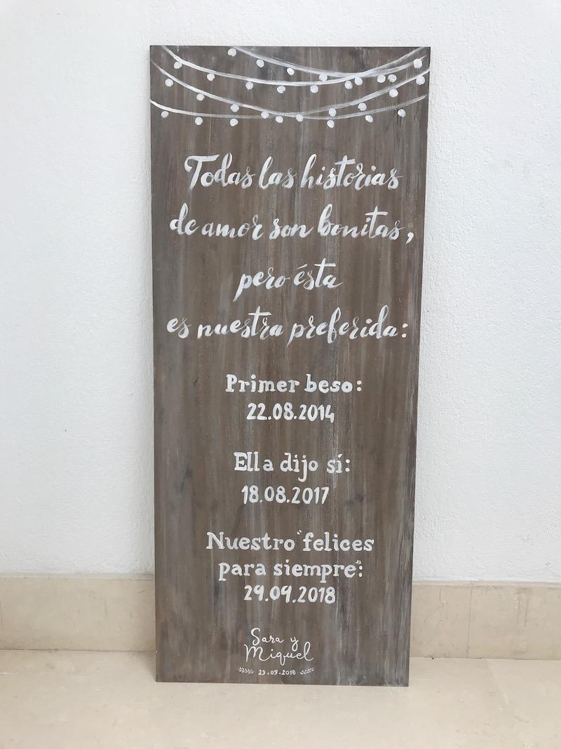 cartel bienvenida personalizado