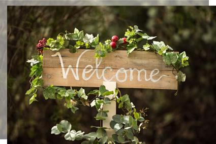 Cartel de bienvenida welcome