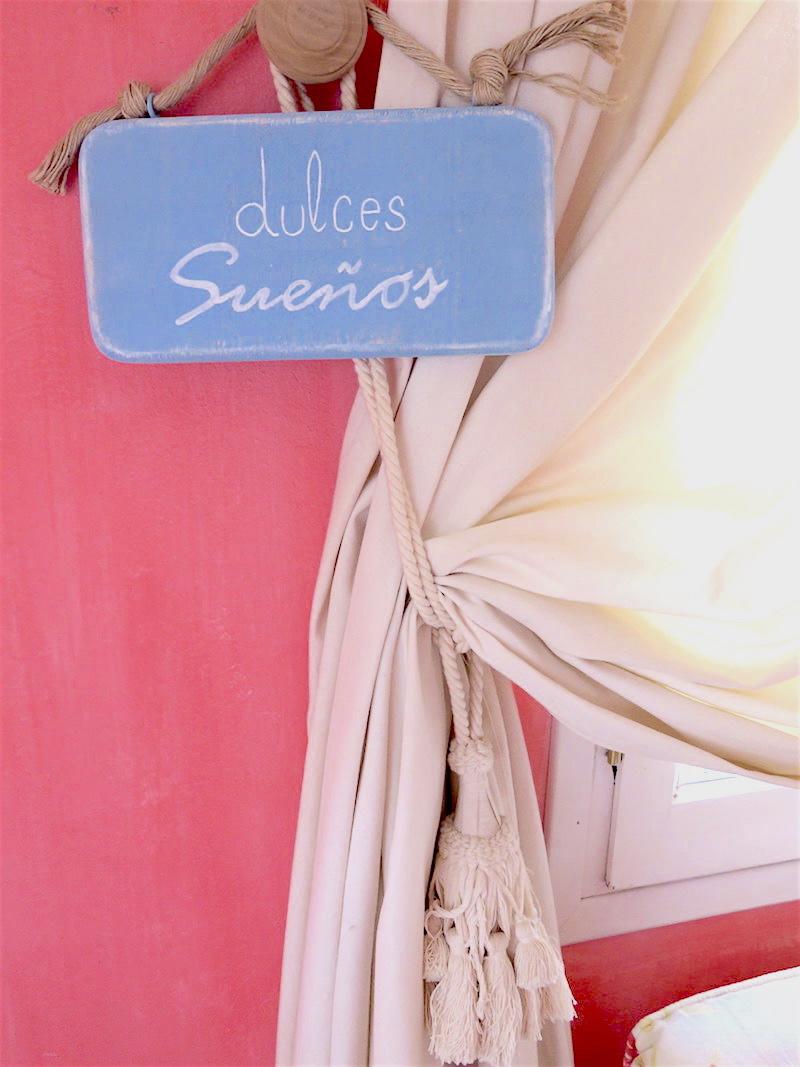 cartel de madera dulces sueños