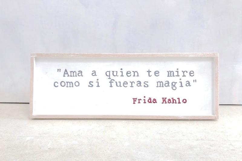 cartel de madera frida kahlo