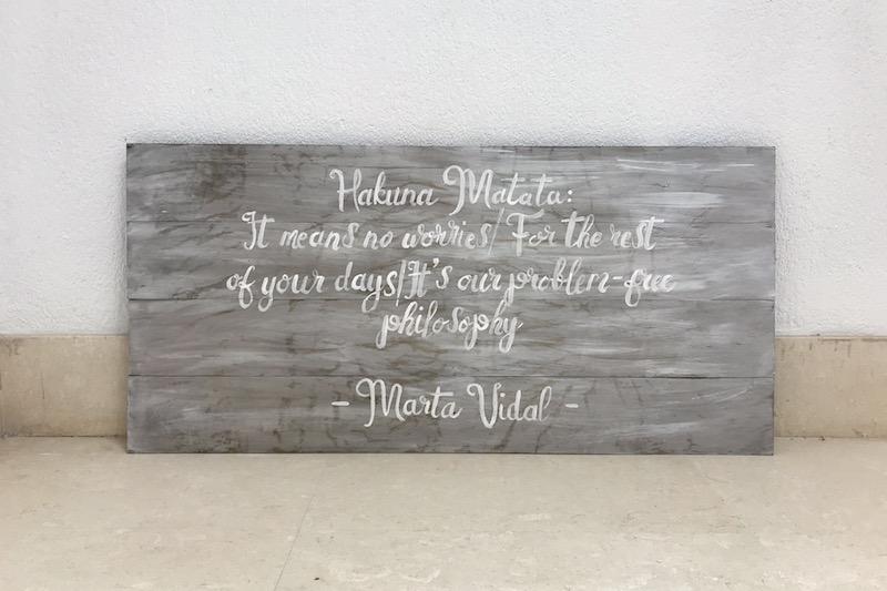 cartel madera sueños