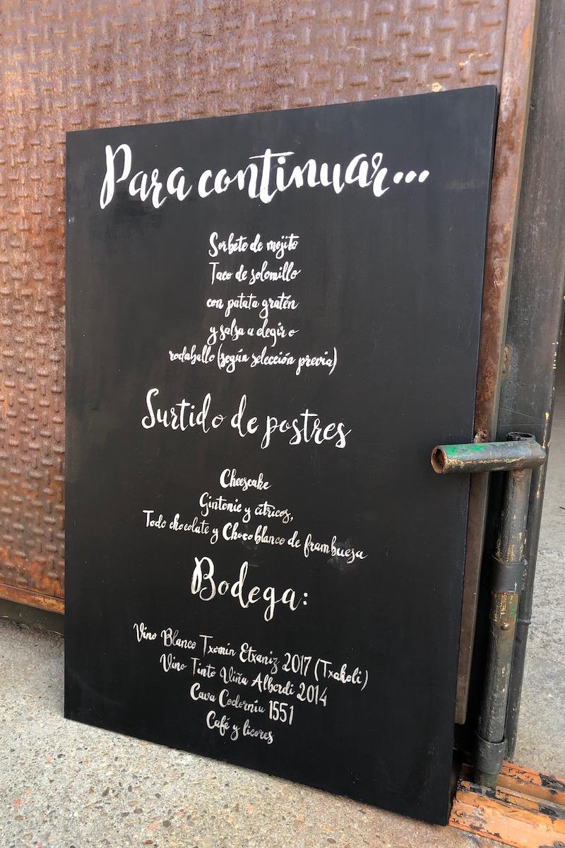 cartel para menu