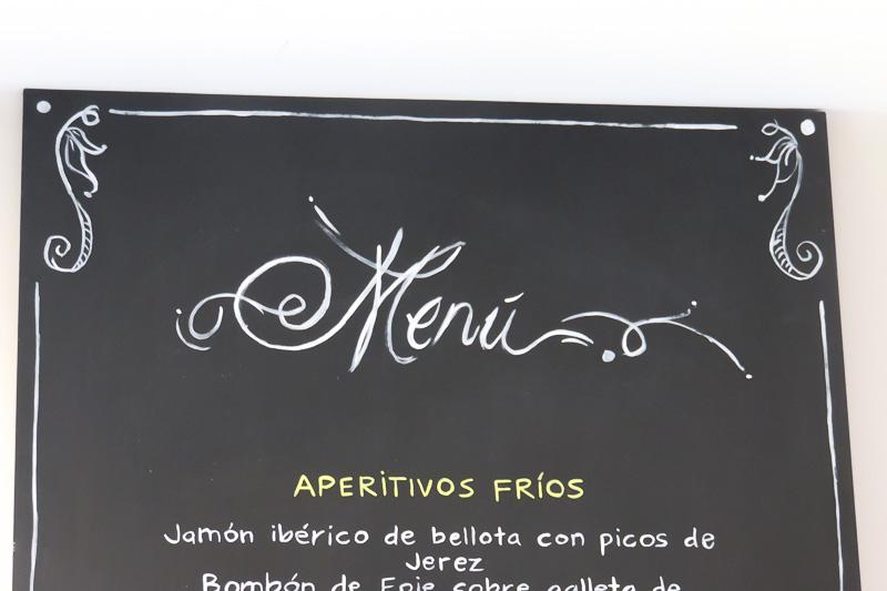 Cartel para menú