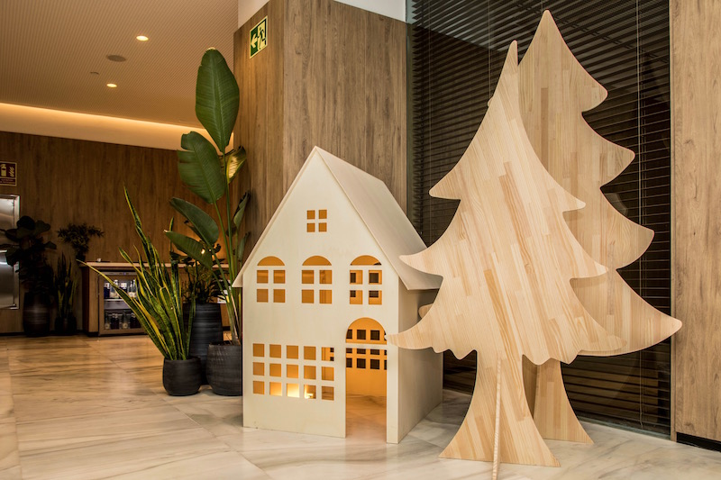 casitas navideñas de madera
