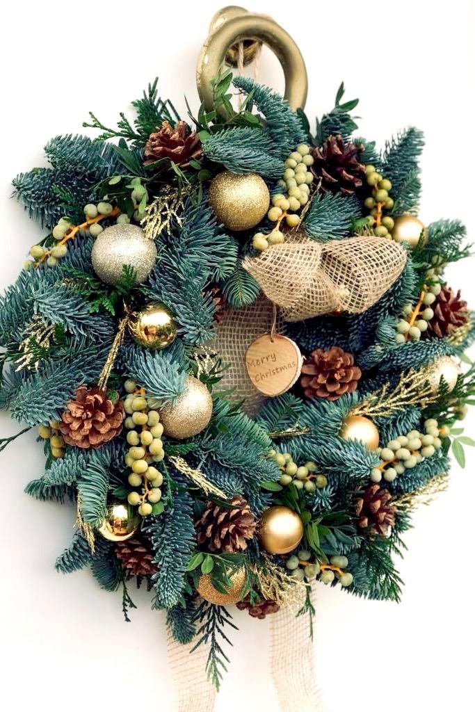coronas de navidad para puertas