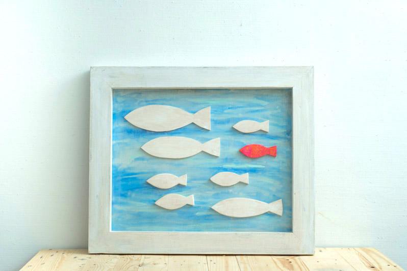 cuadro con peces