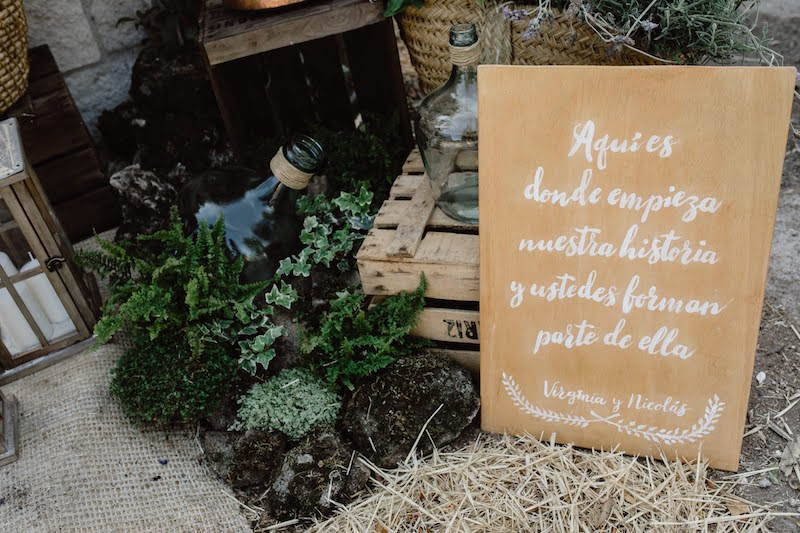 Decoracion de boda en un jardin