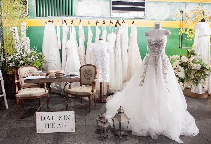 decoración de stands telva novias
