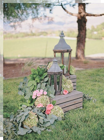 faroles para decorar tu boda con estilo