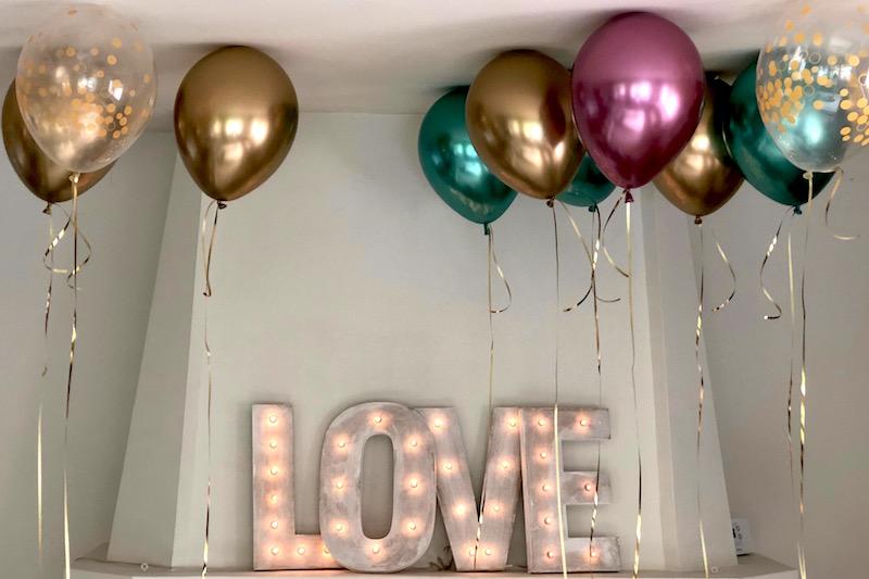 Letras con luces love