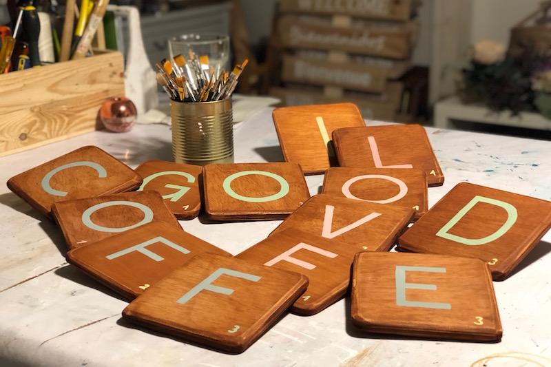 letras de madera scrabble