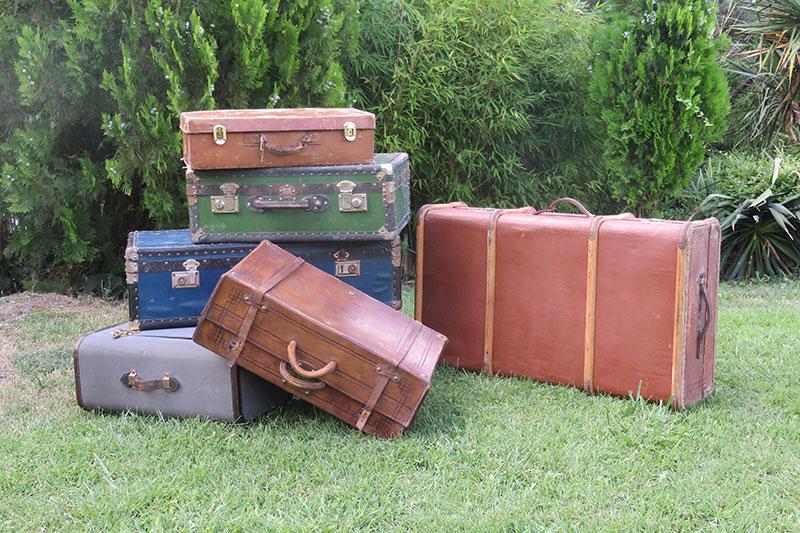 Tu Decoración Original maletas antiguas