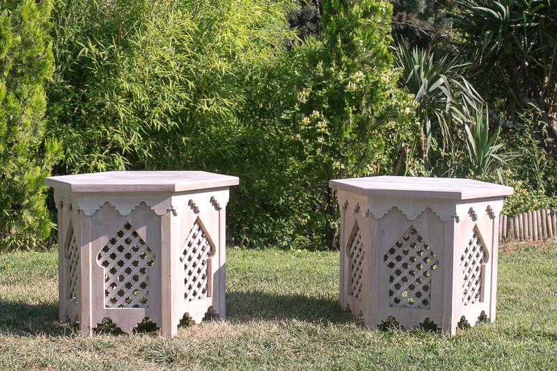 Mesas de madera árabes