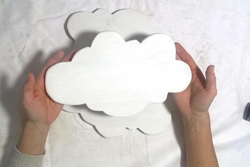 nubes decorativas artesanales