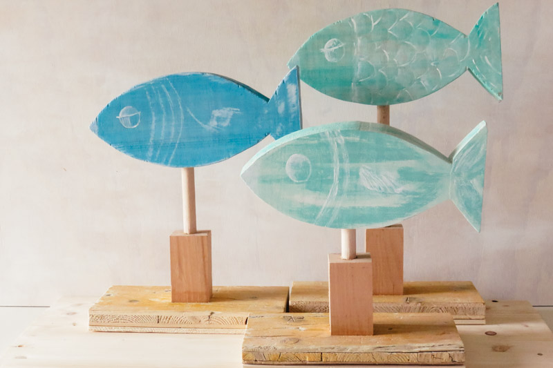 Tu Decoración Original Peces de madera