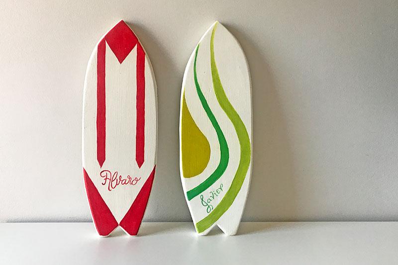 Tu Decoración Original Tabla de surf en madera