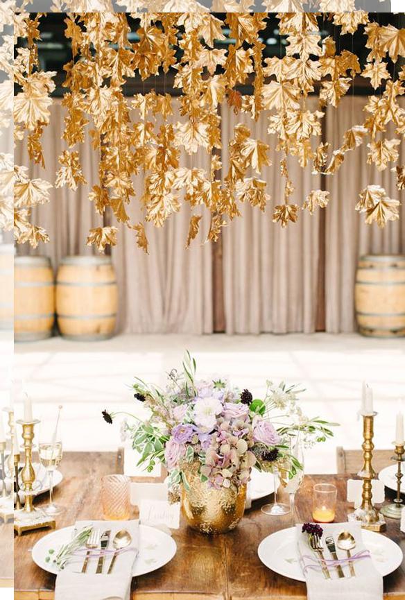 decorar bodas en Otoño