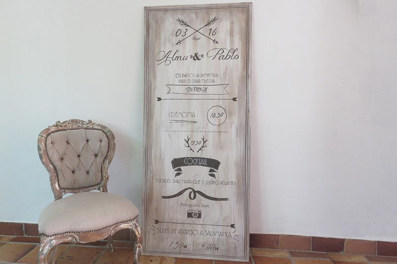 Tu Decoración Original Cartel bienvenida tabla