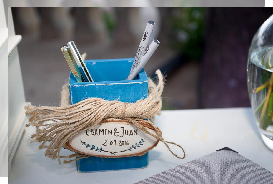 Una mesa de firmas para el día de vuestra boda