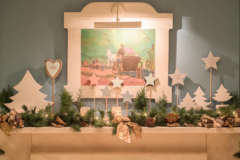 Decoración de Navidad para chimeneas