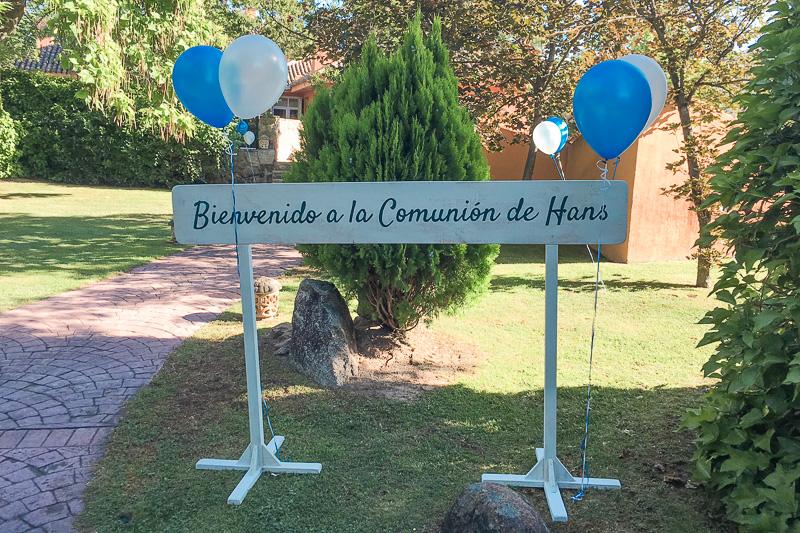 Cartel para comunión