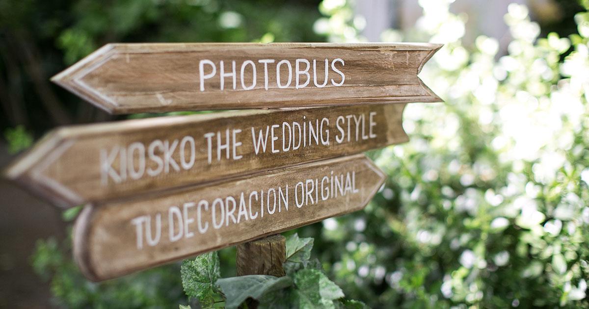 Un cartel artesanal para tu boda
