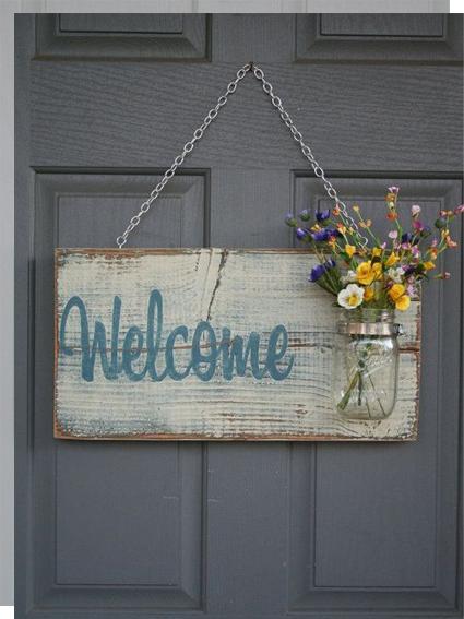 Carteles de bienvenida welcome flores